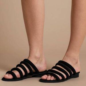 Kelsi Dagger Womens Saga Black Suede Sandal, sz 8